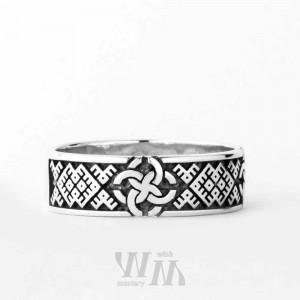 Славянское обручальное кольцо со Свадебниками